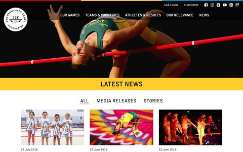 Screenshot of Press Page thecgf.com - Latest News | Commonwealth Games Federation - captured Sept. 29, 2018