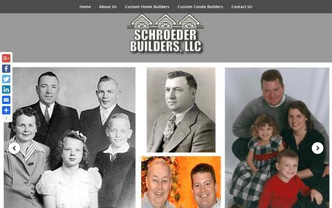 Screenshot of Home Page schroederbuildersllc.com - Schroeder Builders, LLC - Custom Home Builders - captured May 10, 2017