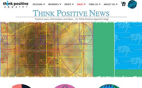 Screenshot of Blog thinkpositiveapparel.com - Think Positive News - Think Positive Apparel - captured July 10, 2018
