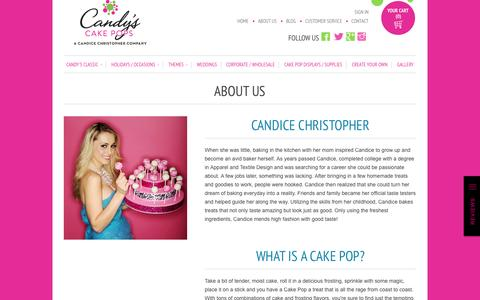 Screenshot of About Page cakepops.com - About Us                           | Candy's Cake Pops - captured Oct. 30, 2014