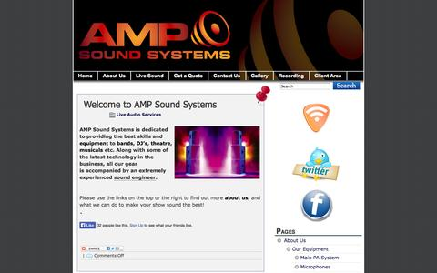 Screenshot of Home Page ampsoundsystems.com - AMP Sound Systems - PA System Hire and Sound Engineers in Ireland - captured Sept. 30, 2014
