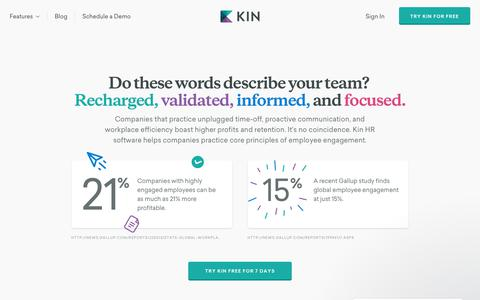 Kin - HR software to build engaged, meaningful workplaces.