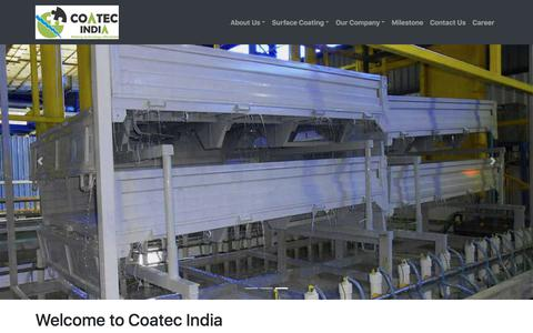 Screenshot of Home Page coatecindia.com - CED coating system manufacturer in India:Coatec India - captured July 19, 2018