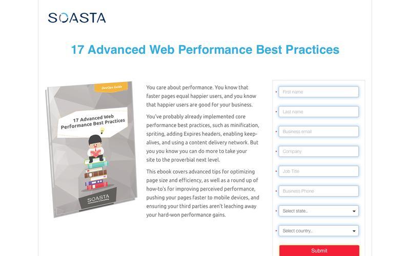 17 Advanced Web Performance Best Practices| SOASTA