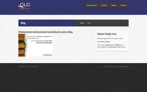 Screenshot of Blog clc.com.mx - Blog | clc.com.mx - captured Oct. 1, 2014