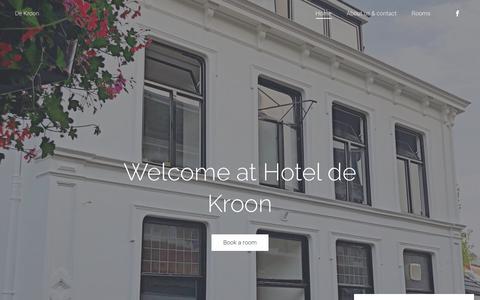 Screenshot of Home Page hotel-dekroon.nl - hotel de Kroon Oldenzaal | De Kroon - captured Nov. 11, 2018