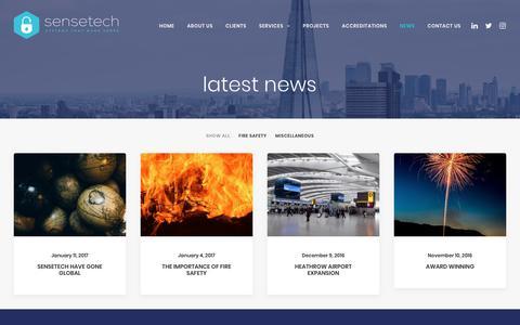 Screenshot of Press Page sensetechsystems.co.uk - news – Sensetech Systems - captured Oct. 20, 2018