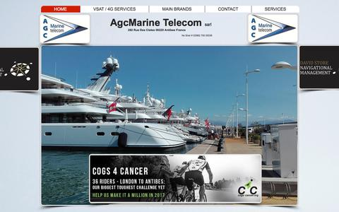 Screenshot of Home Page agcmarine.com - agcmarine - captured Oct. 9, 2017