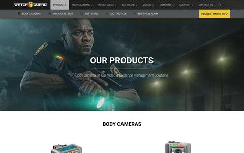 Screenshot of Products Page watchguardvideo.com - Products - WatchGuard Video - captured July 16, 2016