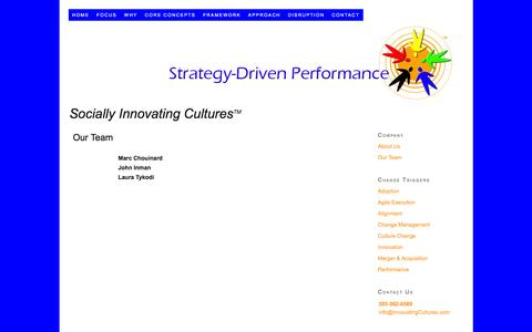 Screenshot of Team Page innovatingcultures.com - Our Team - captured March 15, 2016
