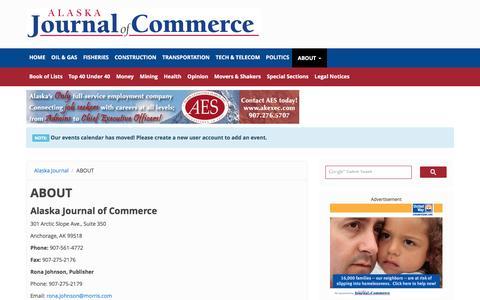 Screenshot of Contact Page alaskajournal.com - HELP | The Alaska Journal of Commerce - captured Jan. 17, 2016