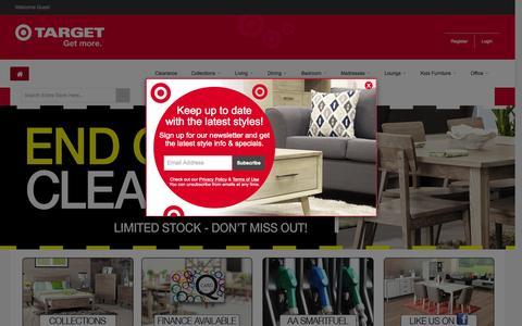 Screenshot of Home Page targetfurniture.co.nz - Target Furniture NZ - captured Aug. 14, 2015