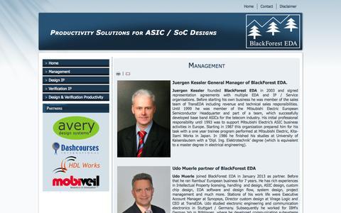 Screenshot of Team Page blackforest-eda.de - BlackForest EDA - Management - captured Sept. 30, 2014