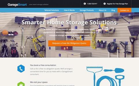 Screenshot of Home Page garagesmart.com.au - Complete Garage Storage Solutions   GarageSmart - captured Sept. 29, 2014