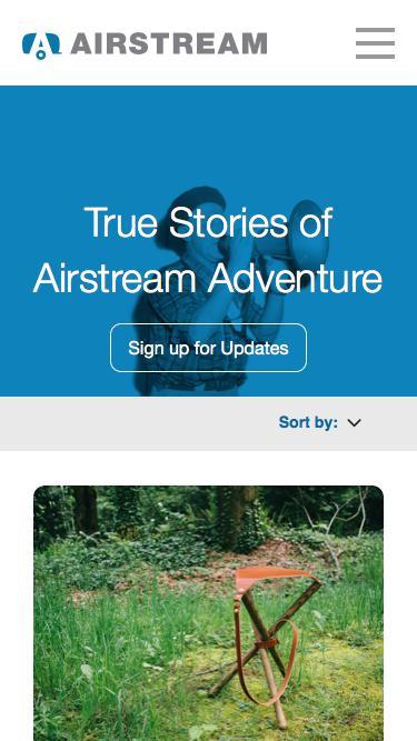 3d253fdc866f Screenshot of Blog airstream.com - Blog