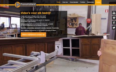 Screenshot of Home Page promoholland.nl - PromoHolland - Videoproducties | Video op maat, voor een gepast budget - captured Feb. 1, 2016