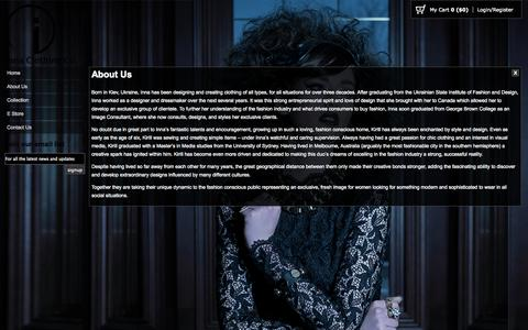 Screenshot of About Page innacc.com - Inna Clothing Company -   About Us - captured Oct. 6, 2014