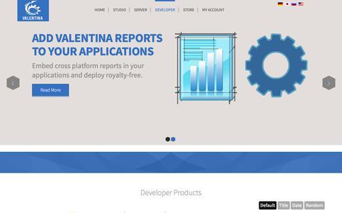 Screenshot of Developers Page valentina-db.com - Developer - captured Sept. 26, 2018