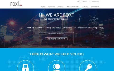 Screenshot of Home Page foxt.com - FoxT Access Management Software | Access Management Software - captured July 11, 2014