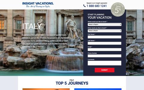 Screenshot of Landing Page insightvacations.com - ITALY   Insight Vacations - captured March 28, 2016