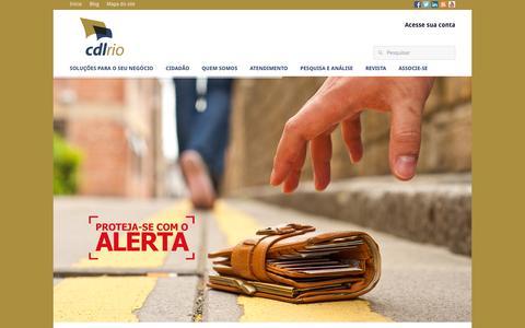 Screenshot of Home Page cdlrio.com.br - Início - CDLRio - captured Sept. 26, 2014