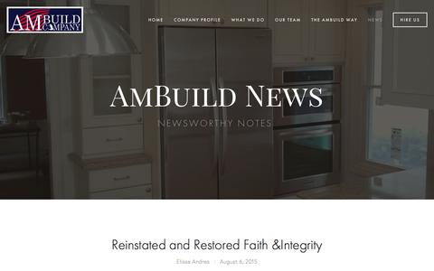 Screenshot of Press Page ambuildco.com - News — AmBuild Company - captured Feb. 6, 2016