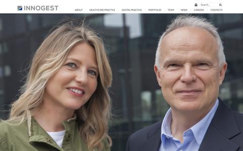 Screenshot of Home Page innogest.it - Innogest Capital - captured Oct. 15, 2017