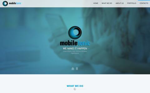 Screenshot of Home Page mobile-tonic.com - Mobile Tonic :: We make it happen - captured Sept. 30, 2014