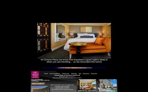 Screenshot of Home Page cpccla.com - Crowne Plaza Hotel Los Angeles Hotel Commerce Casino - captured Oct. 3, 2014