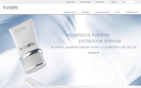 Screenshot of Home Page la-prairie.it - La Prairie | Anti-Invecchiamento Prodotti di Lusso| Home - captured June 14, 2016