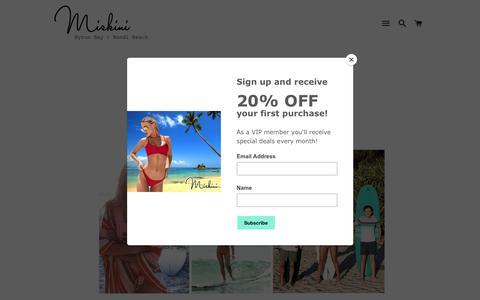 Screenshot of About Page miskini.com - About Miskini Swimwear | Eve Miskin - captured Jan. 14, 2018