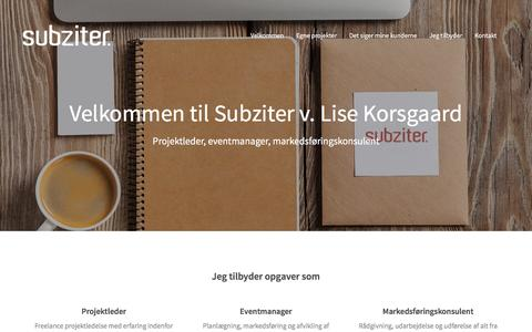 Screenshot of Home Page subziter.dk - Subziter v. Lise Korsgaard - captured Jan. 12, 2016