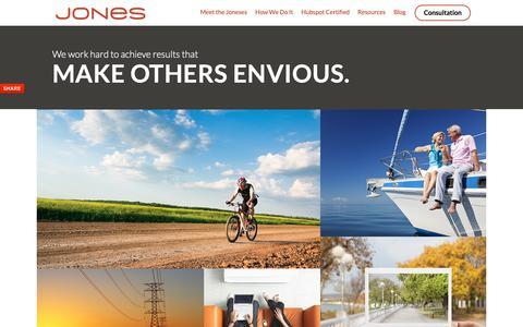 Screenshot of Home Page jonespr.net - Jones - captured Oct. 14, 2018