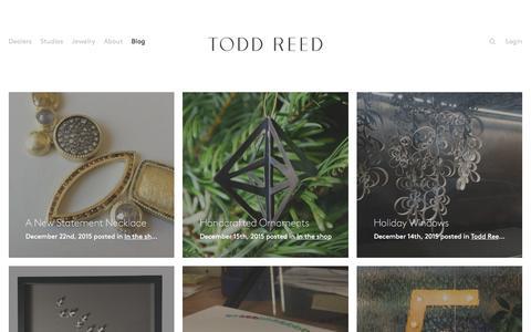 Screenshot of Blog toddreed.com - Blog – Todd Reed – Raw Elegance - captured Dec. 23, 2015