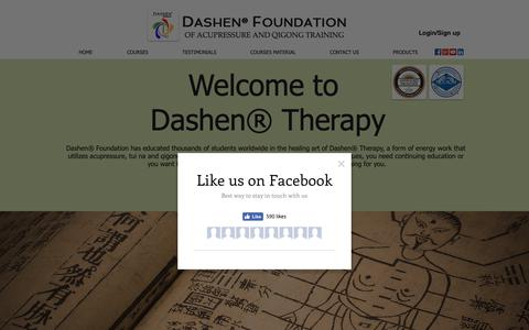 Screenshot of Home Page acupressuresite.com - Dashen Foundation - captured Nov. 13, 2018