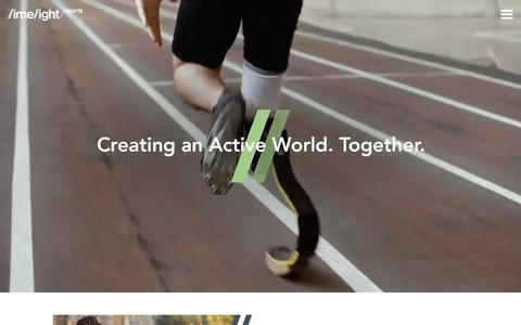 Screenshot of Home Page limelightsports.com - Limelight Sports - The Agency of the Active World - captured July 20, 2018