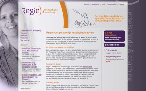 Screenshot of Home Page regie-letselschade.nl - Regie - captured Oct. 6, 2014