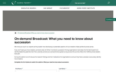 On-demand Broadcast: What you need to know about succession