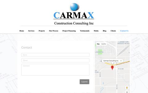 Screenshot of Contact Page carmaxconsulting.com - Contact Carmax Consulting - captured Nov. 10, 2018
