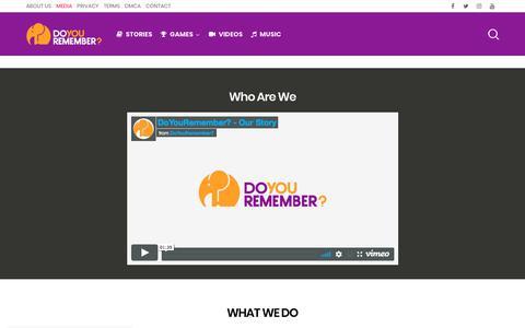 Screenshot of Press Page doyouremember.com - MEDIA   Do You Remember? - captured July 13, 2018