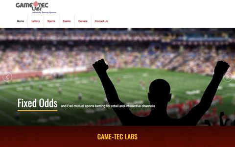 Screenshot of Home Page gameteclabs.com - Home - Gameteclabs - captured July 16, 2018