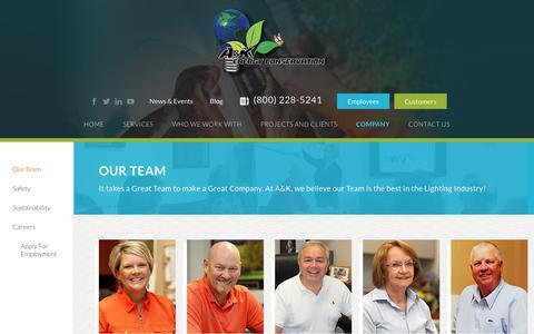 Screenshot of Team Page akenergy.com - Our Team - AK Energy - captured Sept. 17, 2017