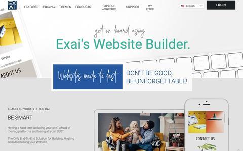 Screenshot of Home Page Privacy Page exai.com - Exai Website Builder - Build Your Own Website - WebsiteBuilder - captured Dec. 1, 2018