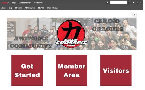 Screenshot of Home Page chikaracrossfit.com - CrossFit | Chikara Fitness - captured July 12, 2016