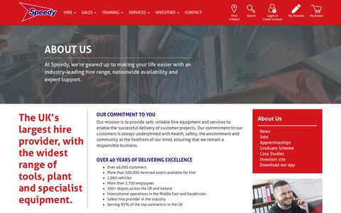 Screenshot of About Page speedyservices.com - About Us   Speedy Services - captured April 7, 2019