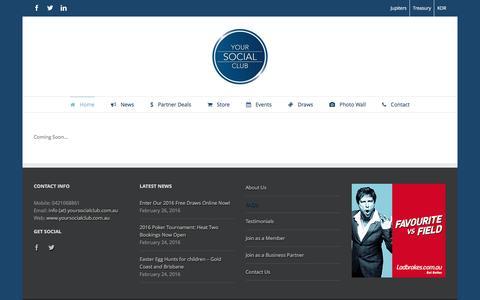 Screenshot of FAQ Page yoursocialclub.com.au - Your Social Club   –  FAQ's - captured Feb. 26, 2016