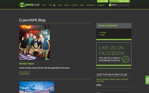 Screenshot of Blog openvape.com - Open Vape - captured Oct. 27, 2014