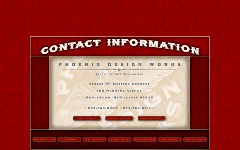 Screenshot of Contact Page phoenixdesignworks.com - Phoenix Design Works - Services - captured Dec. 9, 2015