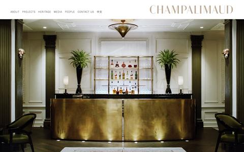 Screenshot of Home Page champalimauddesign.com - Home | Champalimaud Design - captured Jan. 27, 2016
