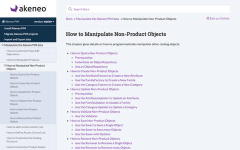 How to Manipulate Non-Product Objects — Akeneo PIM documentation